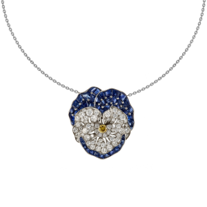 Collier Pensée diamants et saphirs vers 1930