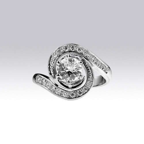 Bague Tourbillon diamants style 1920 Gerphagnon